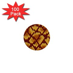 Snake Skin Pattern Vector 1  Mini Buttons (100 Pack)