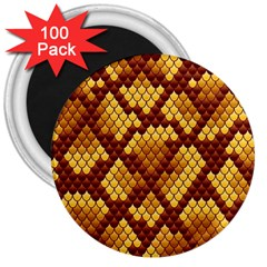 Snake Skin Pattern Vector 3  Magnets (100 Pack)