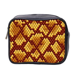 Snake Skin Pattern Vector Mini Toiletries Bag 2 Side by BangZart