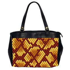 Snake Skin Pattern Vector Office Handbags (2 Sides)
