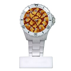 Snake Skin Pattern Vector Plastic Nurses Watch