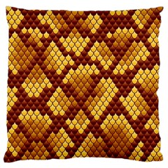 Snake Skin Pattern Vector Standard Flano Cushion Case (two Sides)