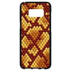 Snake Skin Pattern Vector Samsung Galaxy S8 Black Seamless Case by BangZart