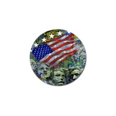 Usa United States Of America Images Independence Day Golf Ball Marker (4 Pack) by BangZart