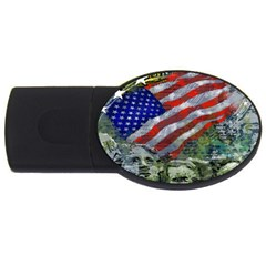 Usa United States Of America Images Independence Day Usb Flash Drive Oval (4 Gb) by BangZart