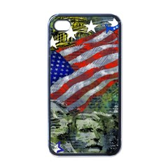 Usa United States Of America Images Independence Day Apple Iphone 4 Case (black) by BangZart