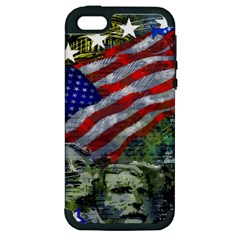 Usa United States Of America Images Independence Day Apple Iphone 5 Hardshell Case (pc+silicone) by BangZart