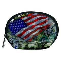 Usa United States Of America Images Independence Day Accessory Pouches (medium)  by BangZart