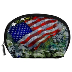 Usa United States Of America Images Independence Day Accessory Pouches (large)  by BangZart