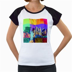 New York City The Statue Of Liberty Women s Cap Sleeve T