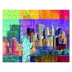 New York City The Statue Of Liberty Rectangular Jigsaw Puzzl