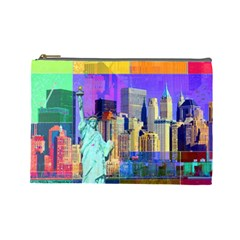 New York City The Statue Of Liberty Cosmetic Bag (large)