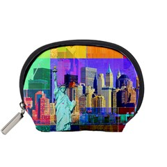New York City The Statue Of Liberty Accessory Pouches (small)  by BangZart