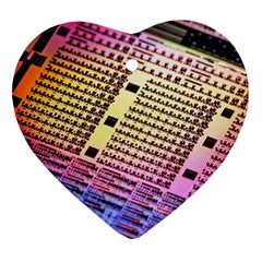 Optics Electronics Machine Technology Circuit Electronic Computer Technics Detail Psychedelic Abstra Ornament (heart)