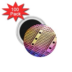 Optics Electronics Machine Technology Circuit Electronic Computer Technics Detail Psychedelic Abstra 1 75  Magnets (100 Pack)