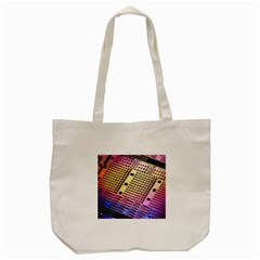 Optics Electronics Machine Technology Circuit Electronic Computer Technics Detail Psychedelic Abstra Tote Bag (cream) by BangZart