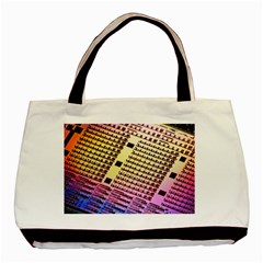 Optics Electronics Machine Technology Circuit Electronic Computer Technics Detail Psychedelic Abstra Basic Tote Bag