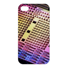 Optics Electronics Machine Technology Circuit Electronic Computer Technics Detail Psychedelic Abstra Apple Iphone 4/4s Premium Hardshell Case