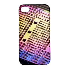 Optics Electronics Machine Technology Circuit Electronic Computer Technics Detail Psychedelic Abstra Apple Iphone 4/4s Hardshell Case With Stand