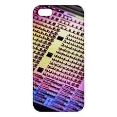 Optics Electronics Machine Technology Circuit Electronic Computer Technics Detail Psychedelic Abstra Apple Iphone 5 Premium Hardshell Case