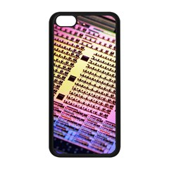 Optics Electronics Machine Technology Circuit Electronic Computer Technics Detail Psychedelic Abstra Apple Iphone 5c Seamless Case (black)