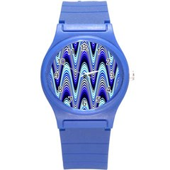 Waves Blue Round Plastic Sport Watch (s) by Colorfulart23