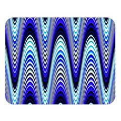 Waves Blue Double Sided Flano Blanket (large)  by Colorfulart23