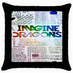 Imagine Dragons Quotes Throw Pillow Case (black) by BangZart