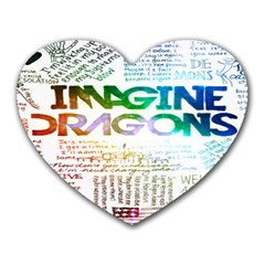 Imagine Dragons Quotes Heart Mousepads by BangZart