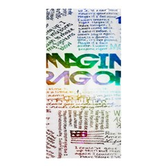 Imagine Dragons Quotes Shower Curtain 36  X 72  (stall)  by BangZart