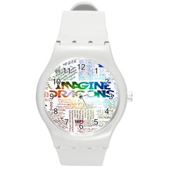 Imagine Dragons Quotes Round Plastic Sport Watch (m)