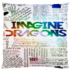 Imagine Dragons Quotes Large Cushion Case (two Sides) by BangZart