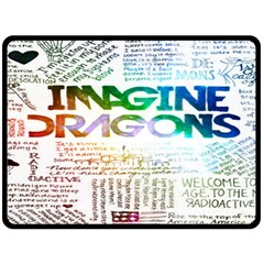 Imagine Dragons Quotes Double Sided Fleece Blanket (large)