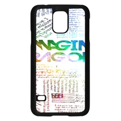 Imagine Dragons Quotes Samsung Galaxy S5 Case (black) by BangZart