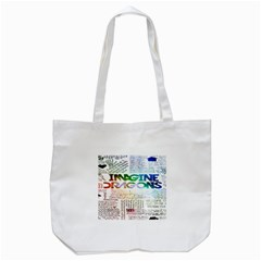 Imagine Dragons Quotes Tote Bag (white)