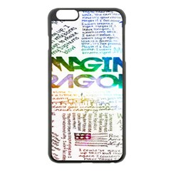 Imagine Dragons Quotes Apple Iphone 6 Plus/6s Plus Black Enamel Case
