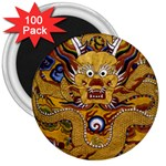 Chinese Dragon Pattern 3  Magnets (100 pack) Front