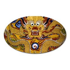 Chinese Dragon Pattern Oval Magnet