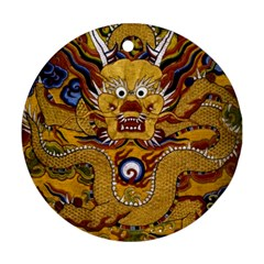Chinese Dragon Pattern Round Ornament (two Sides)
