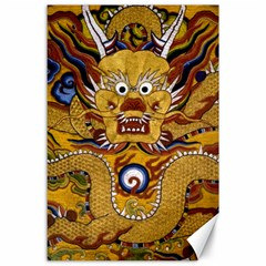 Chinese Dragon Pattern Canvas 24  X 36  by BangZart