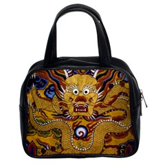 Chinese Dragon Pattern Classic Handbags (2 Sides) by BangZart