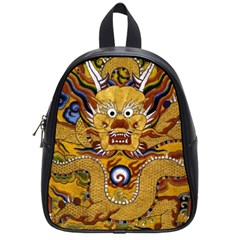 Chinese Dragon Pattern School Bags (small)  by BangZart
