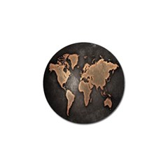 Grunge Map Of Earth Golf Ball Marker (10 Pack)