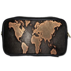 Grunge Map Of Earth Toiletries Bags 2 Side by BangZart