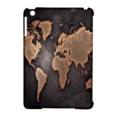 Grunge Map Of Earth Apple Ipad Mini Hardshell Case (compatible With Smart Cover)