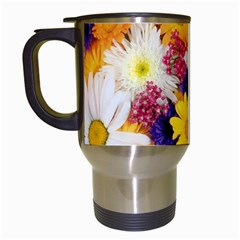 Colorful Flowers Pattern Travel Mugs (white)