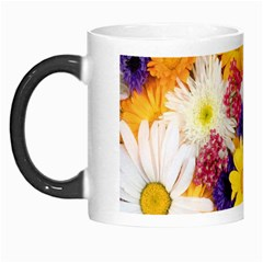 Colorful Flowers Pattern Morph Mugs