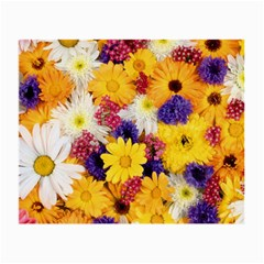 Colorful Flowers Pattern Small Glasses Cloth