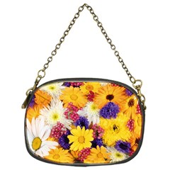 Colorful Flowers Pattern Chain Purses (one Side)
