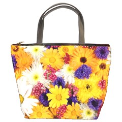 Colorful Flowers Pattern Bucket Bags